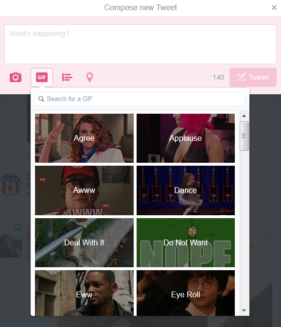 The GIF keyboard on Twitter makes GIF posting super fast